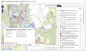 Mapová vizualizace plánu